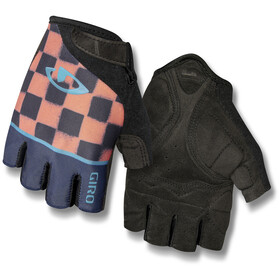 Giro Jag'ette Gants Femme, midnight/peach/checkers